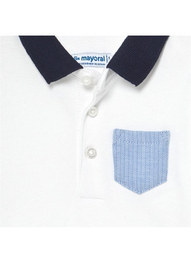 Mayoral Mayoral Erkek Bebek Polo Yaka Tshirt Beyaz 20661 Beyaz